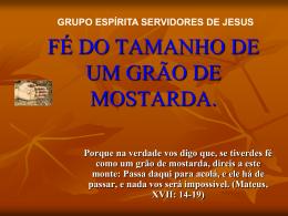 Clique e veja o ppt. - Servidores de Jesus
