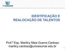 identificação e realocação de talentos