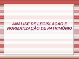 TREINAMENTO DE PATRIMÔNIO