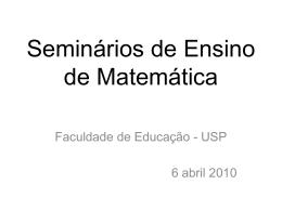 Seminários de Ensino de Matemática