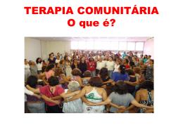 O que é Terapia Comunitária?