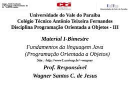 1 Bim. - Fundamentos da Linguagem Java, Programação