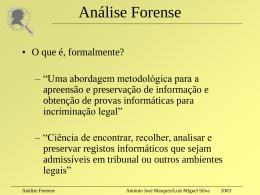 Seminário na UBI sobre anti-análise forense
