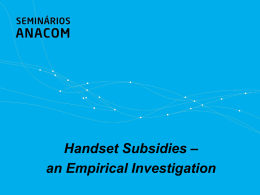 Handset subsidies - an empirical investigation
