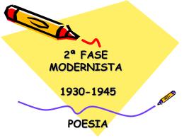 Modernismo - 2ª Fase