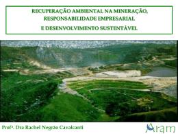 """Palestra """"Recomposição ambiental áreas degradadas pela"""
