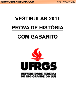 Ufrgs: 2000-2011 [com gabarito]