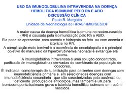 Uso da imunoglobulina intravenosa na doença hemolítica isoimune
