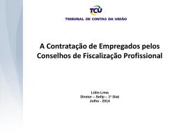 4. Palestra TCU - Contratação de Pessoal