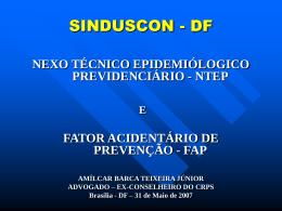 NTEP e Fator Acidentário de Prevenção – FAP