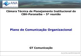 Plano de Comunicação - CBH