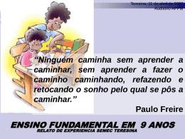 SEMEC/Teresina PARCERIAS LIVIA FERNANDA NERY DA SILVA