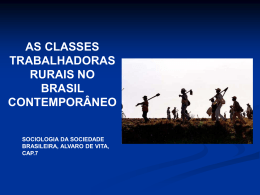 as classes trabalhadoras rurais no brasil contemporaneo