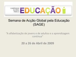 Semana de Acção Global pela Educação (SAGE)