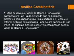 Análise combinatória 1