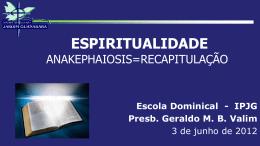 A Espiritualidade Cristã
