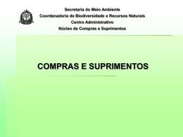 Secretaria do Meio Ambiente Coordenadoria de Biodiversidade e