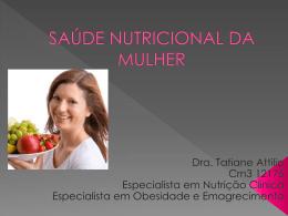 SAÚDE NUTRICIONAL DA MULHER - CRC-MS