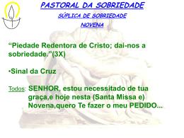 8- Novena da Sobriedade - Paróquia Bom Jesus dos Migrantes