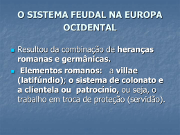 o sistema feudal na europa ocidental