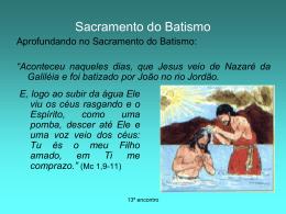 Sacramento e Sacramento do Batismo