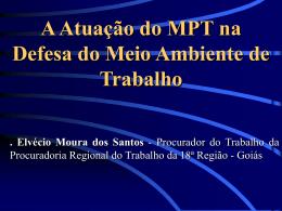 A Atuação do MPT na Defesa do Meio Ambiente de Trabalho