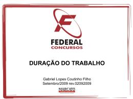 duração do trabalho - Gabriel Lopes Coutinho Filho