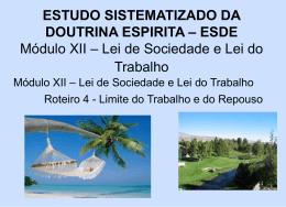 LIMITE DO TRABALHO E DO REPOUSO = MD Xl rot. 2