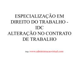 ALTERAÇÃO NO CONTRATO DE TRABALHO