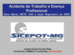 Acidente do Trabalho e Doença Profissional - sicepot-mg