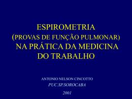 espirometria provas de função pulmonar na medicina do trabalho