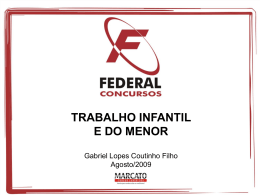 trabalho do menor - Gabriel Lopes Coutinho Filho