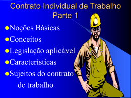 Contrato Individual de Trabalho Conceito