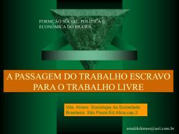 A PASSAGEM DO TRABALHO ESCRAVO PARA O