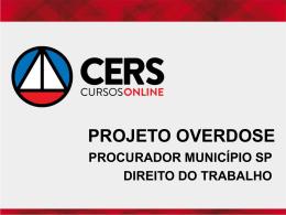 DIREITO DO TRABALHO – CONCURSO AFT