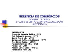 GERÊNCIA DE CONSÓRCIOS TRABALHO DE GRUPO 2º