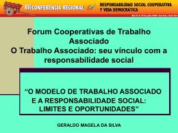 o modelo de trabalho associado e a responsabilidade social