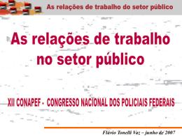 as relações de trabalho no serviço público.