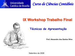 Workshop Trabalho Final