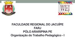 organização e gestão da escola - WEJ