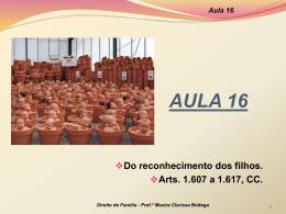 Aula 16 - Professora Mestra Clarissa Bottega