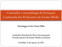 Domingos Leite Lima Filho - Observatório do Ensino Médio