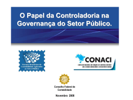 O papel da Controladoria (...) - Prof. José Francisco Ribeiro Filho