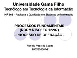 Universidade Gama Filho Tecnólogo em Tecnologia da Informação