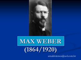 MAX WEBER - apresentação