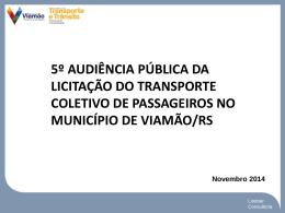 5º Audiência de Rede Transporte Viamão