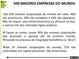 500 MAIORES EMPRESAS DO MUNDO