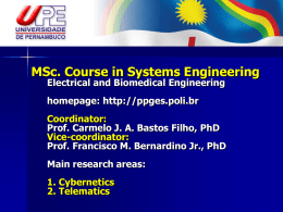 MSc. in Systems Engineering Electrical and Biomedical