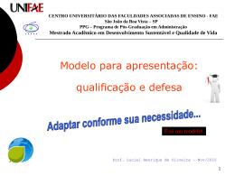 Modelo Qualificação e Defesa