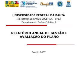 Aula 8 - Relatório de gestão e avaliação do plano